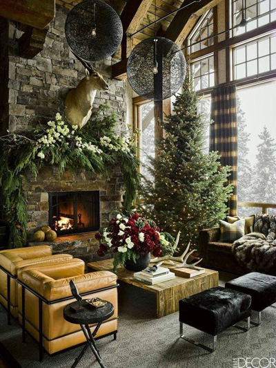 christmas large living room decor 4