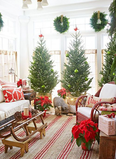 christmas large living room decor 5