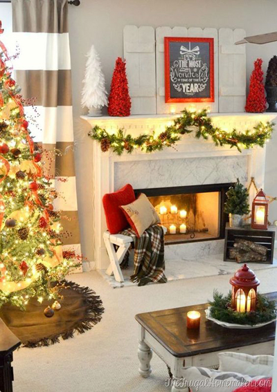 christmas small living room decor 1