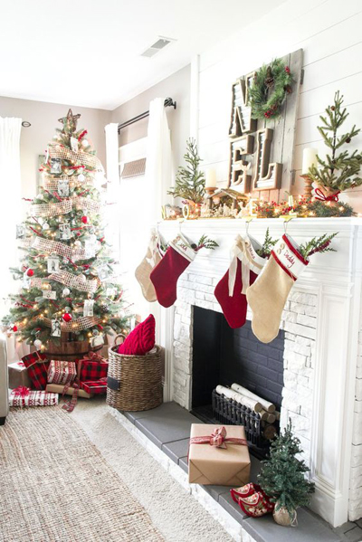 christmas small living room decor 2