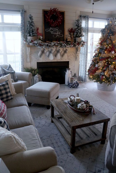 christmas small living room decor 3