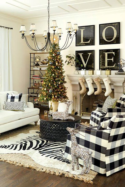 christmas small living room decor 4
