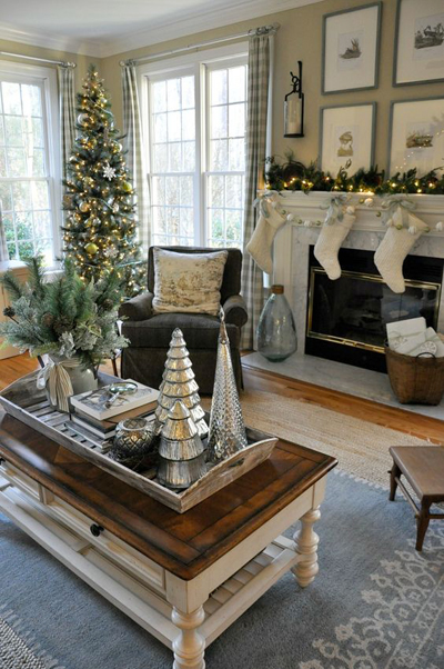 christmas small living room decor 5