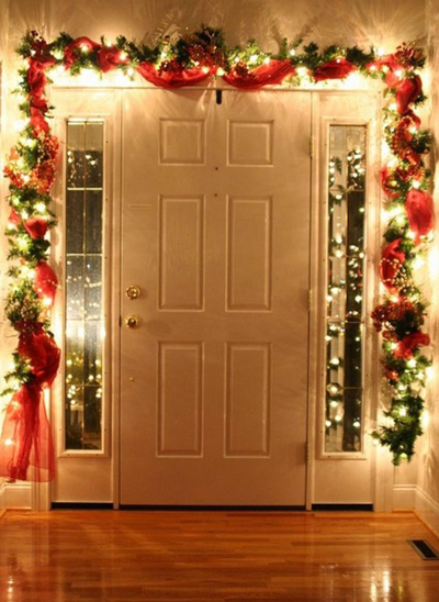 entrance door greenery decoration