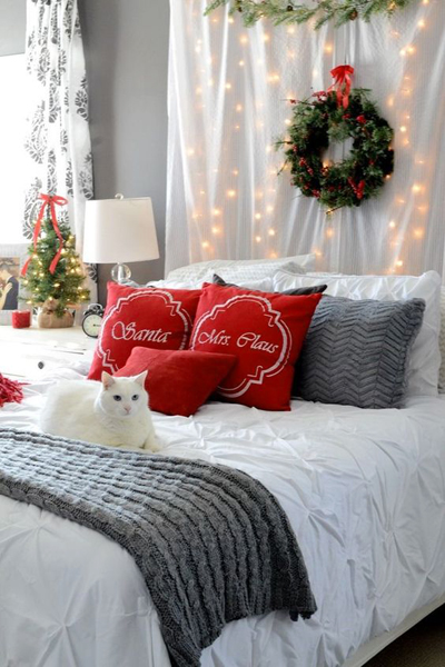 Christmas bedroom decoration 4