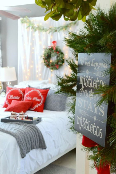 christmas bedroom decor 2