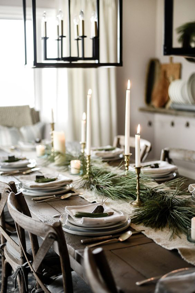 christmas dining room decor 1