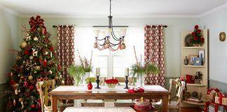 christmas dining room decor