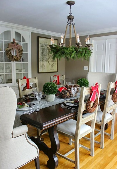 christmas dining room decor 8