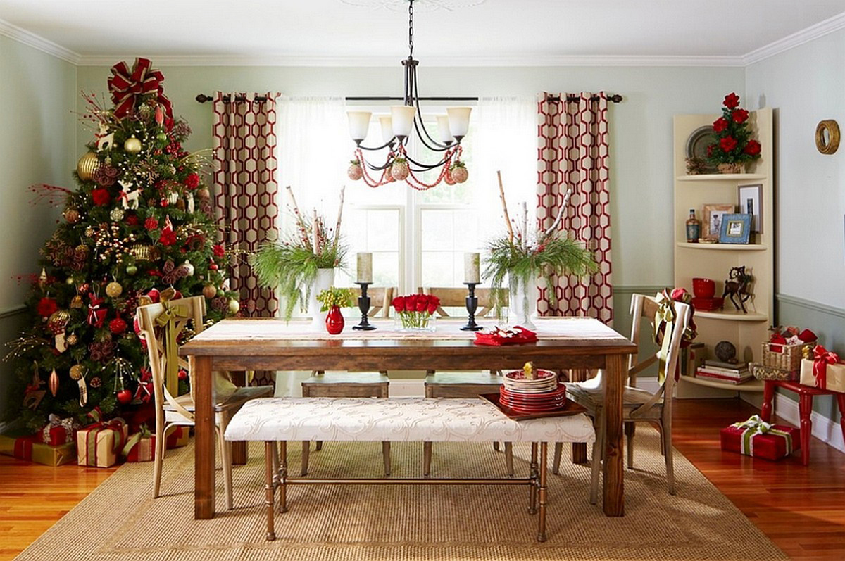 Christmas dining room decor create a christmas for Room decor for christmas