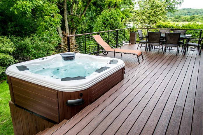 outdoor hot tub design ideas