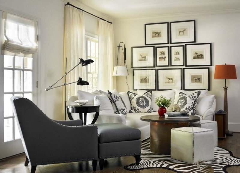 Cozy Living Room With Zebra Theme