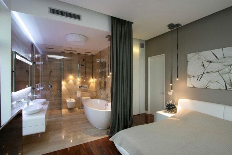 Best Bed Bath Open Space Design Ideas, Bathroom Bedroom Ideas
