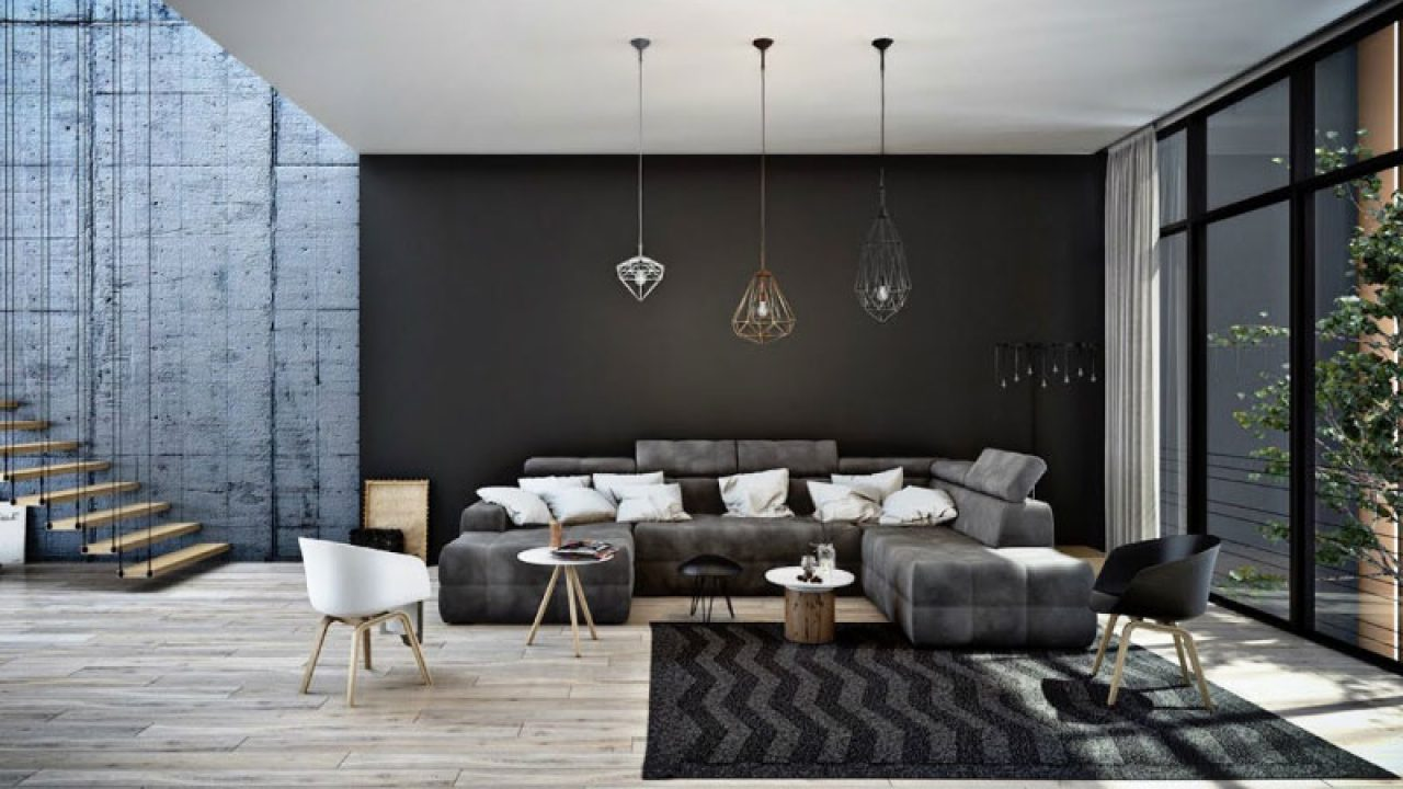Showing Different Look In Living Room With Black White Decoration Roohome