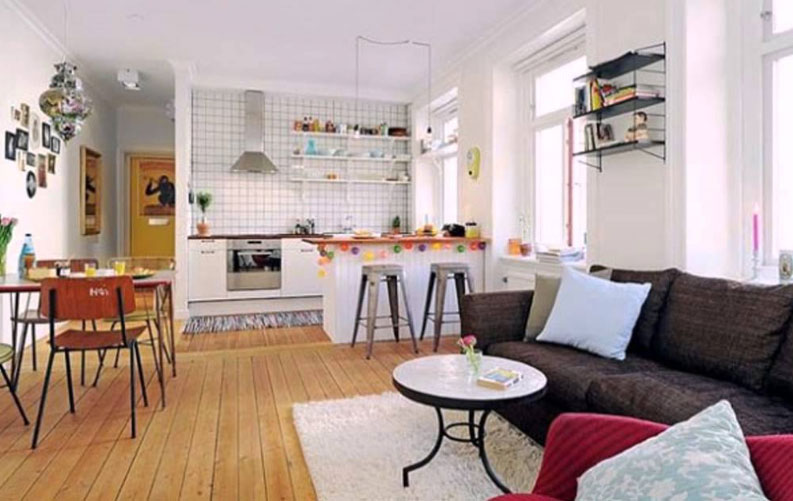 Inspiring Kitchen Living Room Design, How To Decorate Small Open Plan Living Room Kitchen