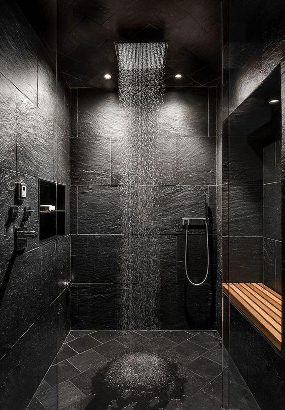 Black Luxurious Bathroom