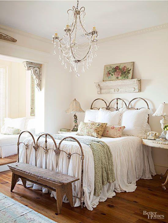 right bed frame chosen for vintage bedroom