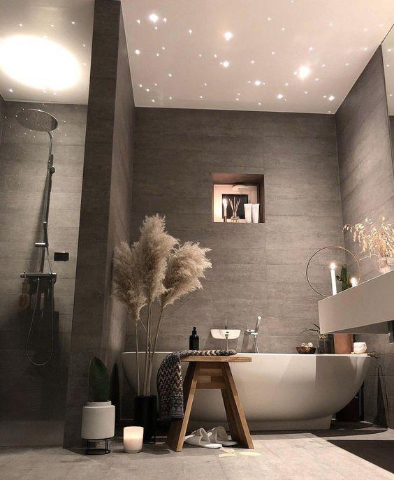 warm nuance bathroom decoration
