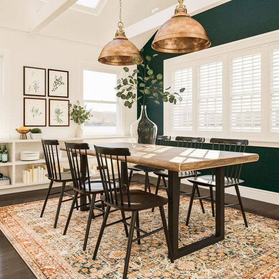 Green Army Dining Room Decors
