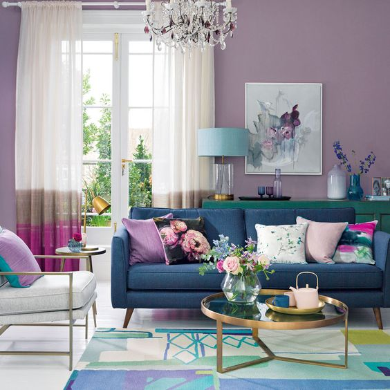 Beautiful Lilac Living Room
