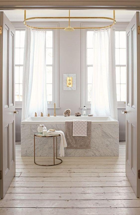 Greige for Luxury Bathroom Look
