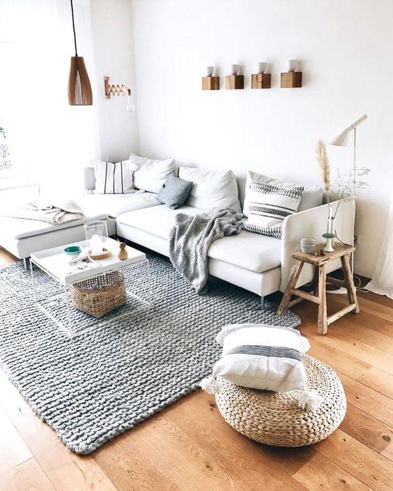 Warm Scandinavian Living Room