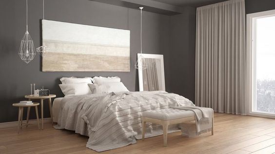 soothing bedroom with simple decor
