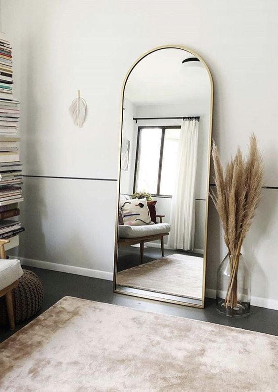 mirror as small living room decoration