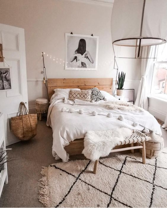 rustic scandinavian bedroom