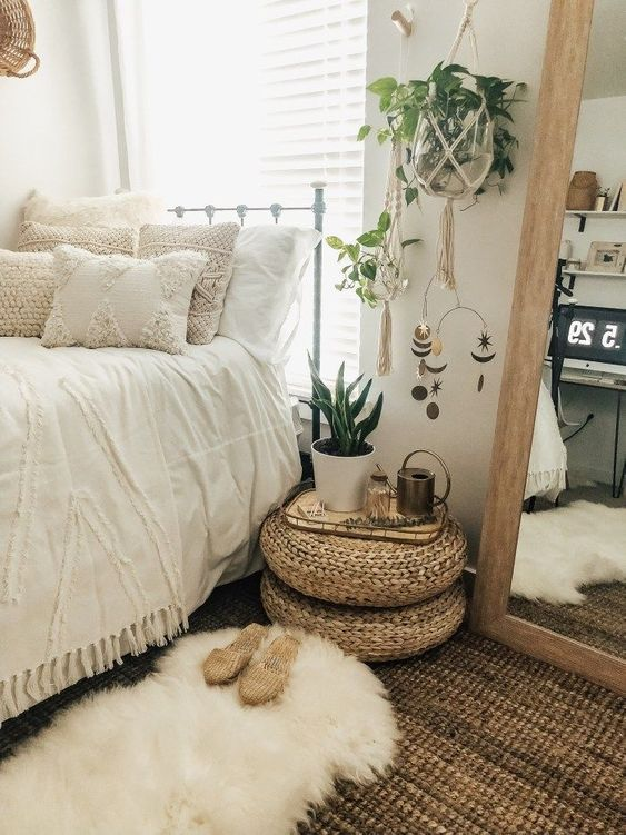 Beautiful White Bedroom with Wood Elements