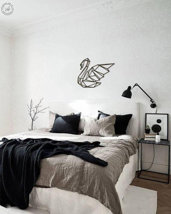 simple scandinavian bedroom decor