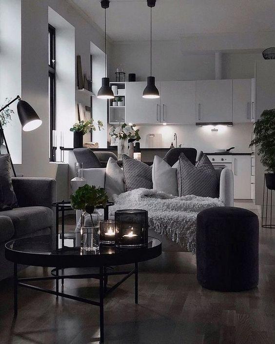monochrome small apartment design