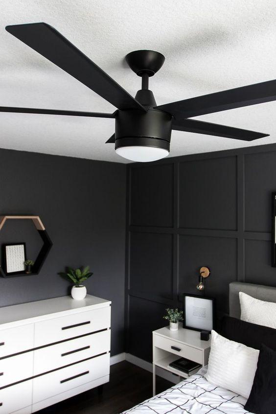 black ceiling fan lamp