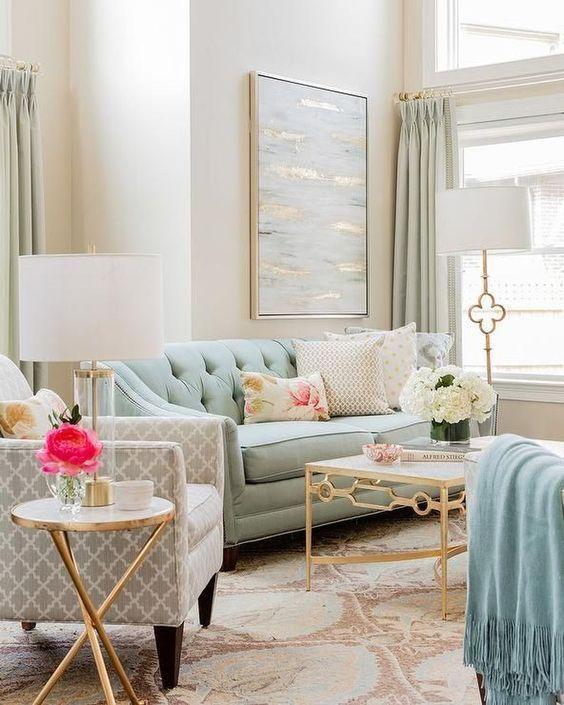 luxury and elegant minimalist living room