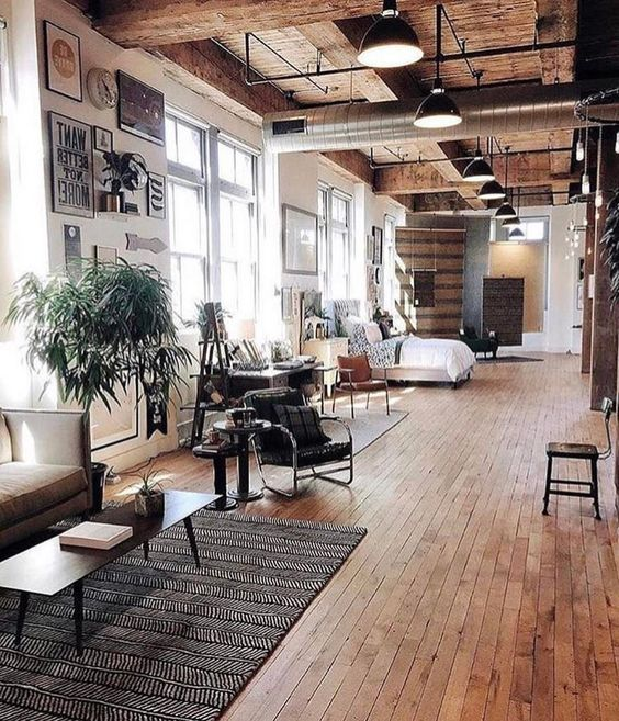 bright industrial apartment