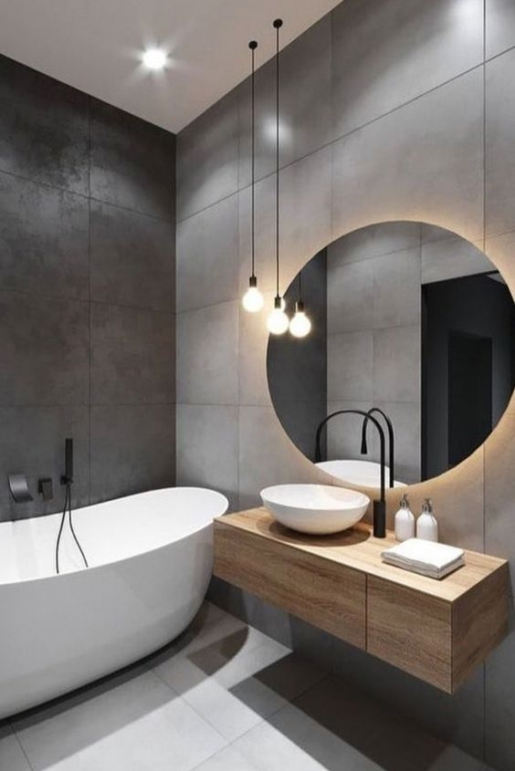 modern industrial bathroom design