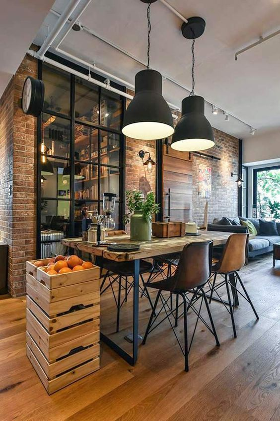 industrial style can save a lot of the budget