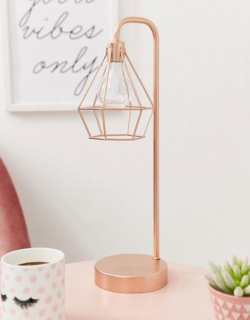 rose gold lamp for bedroom