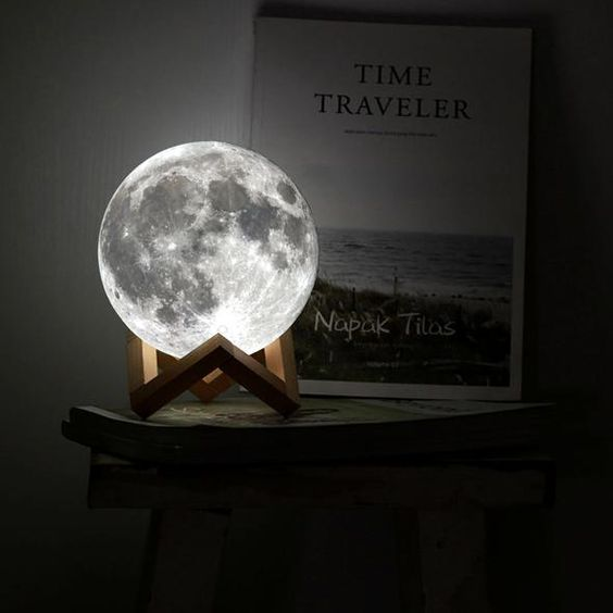 shooting ordinary bedroom with moon lamp