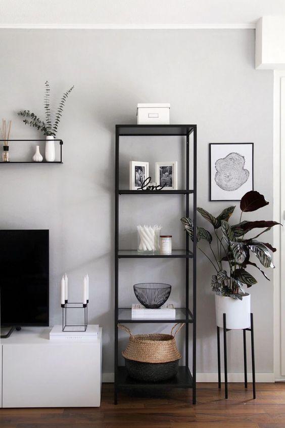 right furniture for monochrome apartment