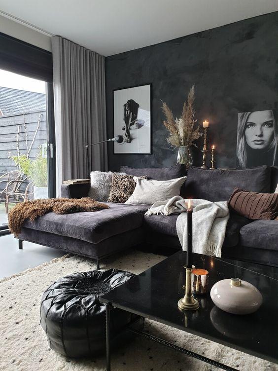 wall monochrome apartment decor