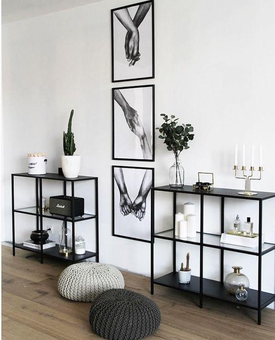 small monochrome apartment decor