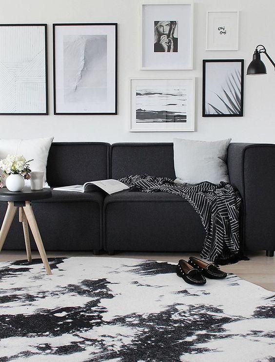 monochrome apartment small spaces decor