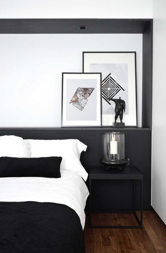 right bedding for monochrome apartment bedroom