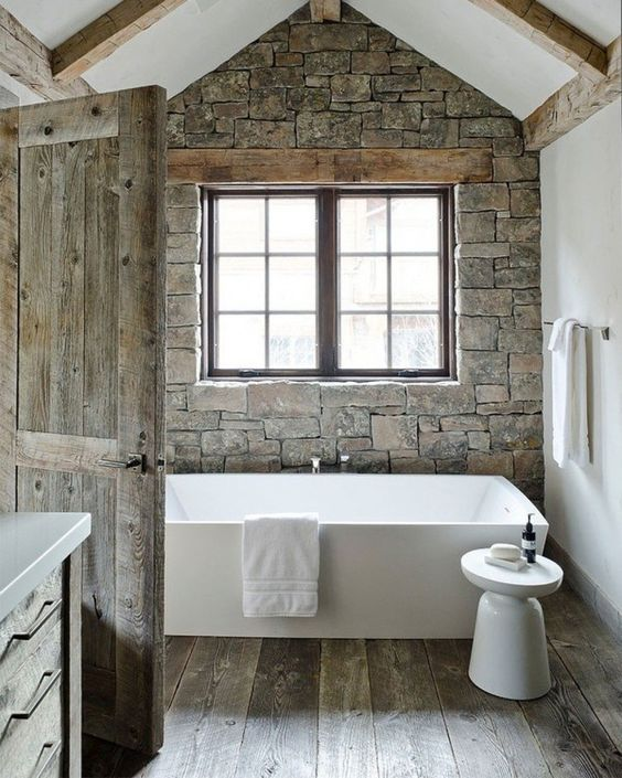 Natural stone for bathroom wall