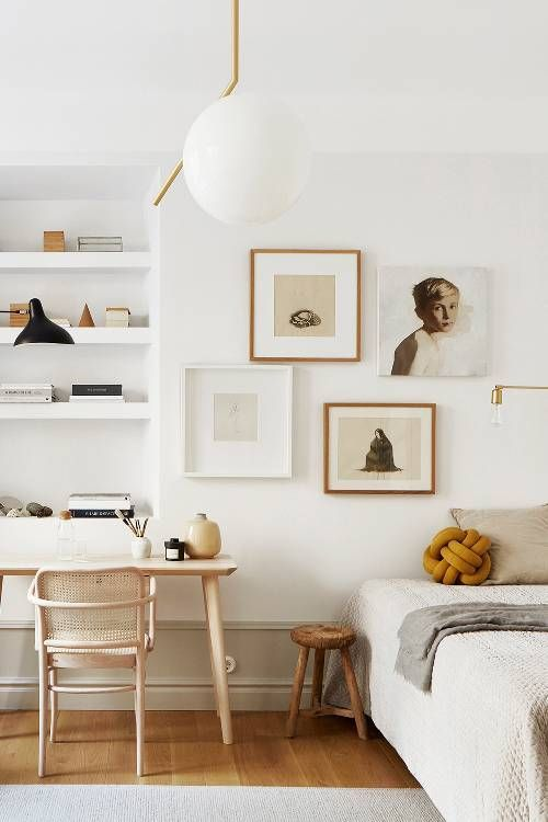 elegant scandinavian bedroom
