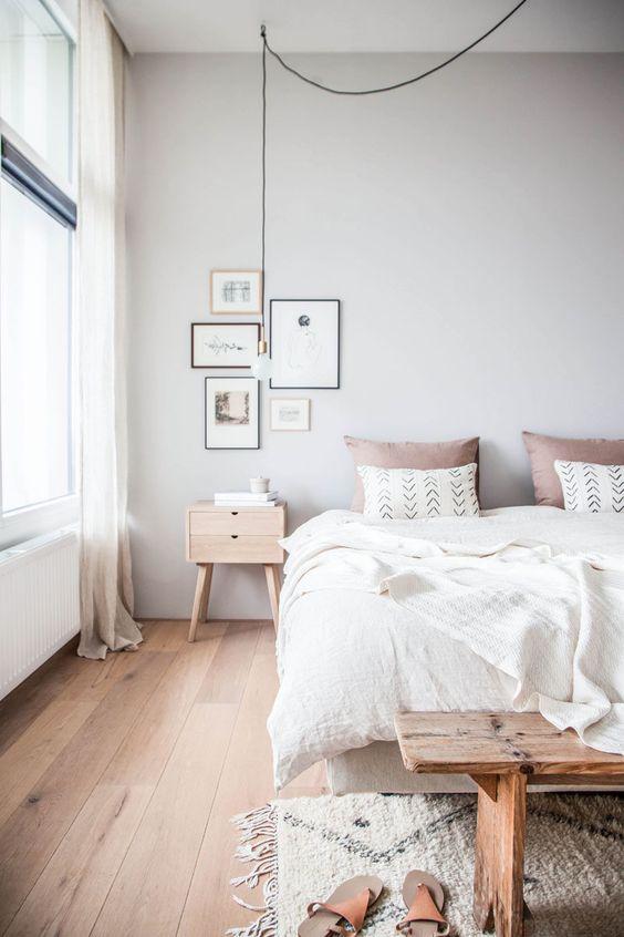 simple lamp for scandinavian bedroom