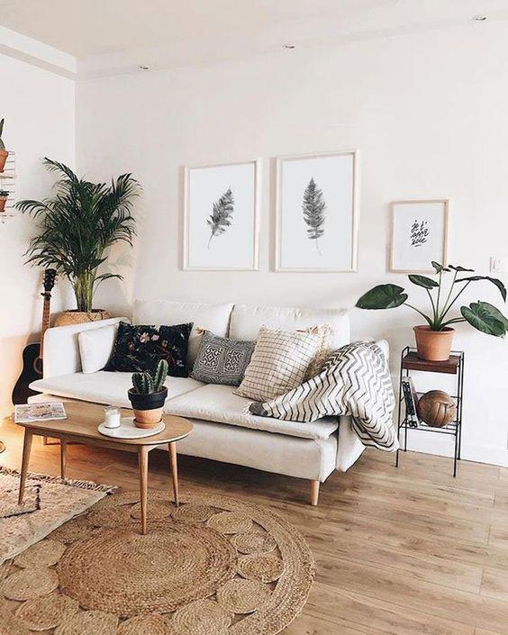 beautiful white scandinavian living room design