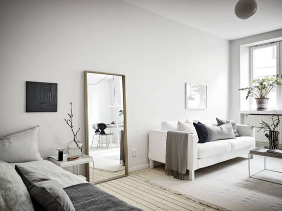 cool appearance of scandinavian apartment
