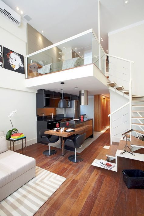 Elegant Look at Small Loft Apartment
